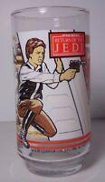 VINTAGE 1983 STAR WARS THE RETURN OF THE JEDI ROTJ HAN SOLO LUKE SKYWALKER GLASS