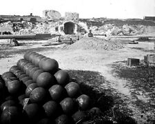 New 8x10 Civil War Photo: Interior View of Fort Moultrie on Sullivan's Island