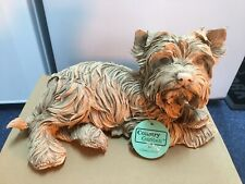 More details for country artists yorkshire terrier dog  sculpture figurine stunning piece vhtf