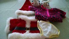 Build a Bear Clothing Lot Christmas Outfit and Hat Diaper Sleeper Sneakers