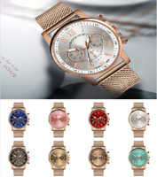 Women Elegant Watch Stainless Steel Analog Quartz Dress Bracelet Wrist Watch