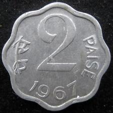India 2 Paise 1967 Calcutta UNC