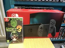 Nintendo switch V2 improved battery console with Luigi mansion game