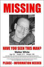 "Breaking Bad Walter White LARGE Missing Poster (24"" W x 36"" H)-TV-GIFT"