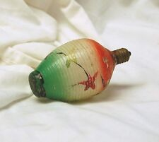 Vintage Antique Ribbed Glass Christmas Ornament Light Bulb Display Xmas July R