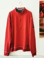 DANIEL HECHTER Herren Pullover Sweatshirt Troyer NEU Gr. XXL rot   #LRZ1177