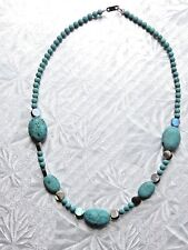 TURQUOISE Necklace with Sterling Clasp 16""