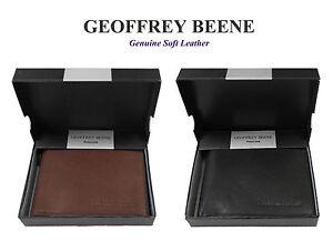 Geoffrey Beene Soft Leather DOUBLE Bifold Wallet RRP $89.95