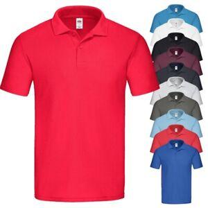 Fruit of the Loom ✅ Original Polo Polohemd Polo Shirt T Shirt Herren