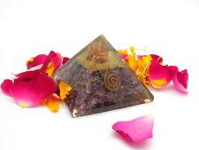 Amethyst Orgone Healing Chakra EMF Protection Organite Energy Pyramid