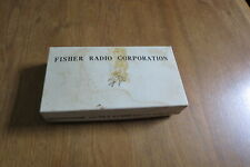Two Fisher Radio Corporation Microphones and Tilt Stands. Model M-5 w/box