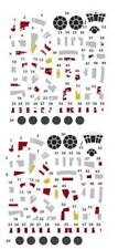 bandai star wars millennium falcon vehicle model 006 015 waterslide decals 1/350