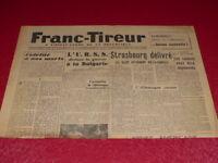 "[PRESSE WW2 39-45] ""FRANC TIREUR"" # 53 / 6 SEPTEMBRE 1944 Libération Strasbourg"
