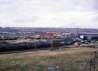 PHOTO  WOODHAMS PANORAMA BULLEID PACIFICS WELL REPRESENTED IN THE NEAREST ROW WI