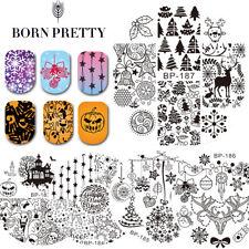 Christmas Halloween Theme Nail Art Stamping Plates Manicure Born Pretty New