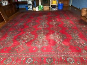 Oushak Rectangle Antique Carpets Rugs