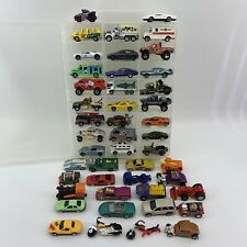 Lot of 46 Hot Wheels Matchbox Cars Trucks Other Plus Double-Sided Carrying Case