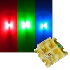 10 RGB SMD LED 0605/3-CHIP ROSSO VERDE BLU 0603 controllabile SMDs Multicolor