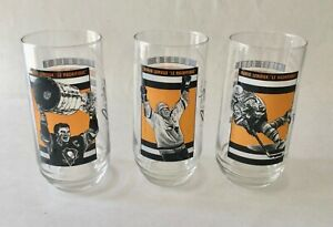 Mario Lemieux 1998 Eat'n Park Drinking Glasses Pittsburgh Penguins Set of 3