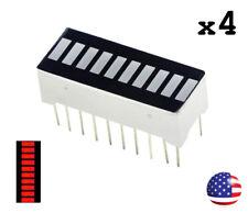 (4) 10 Segment Digital Red LED Bar Graph Volume Display - Ultra Bright 4 Pack