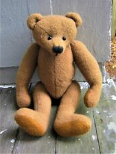 """Vintage Wool Teddy Bear-12 1/2"""" Tall-Fully Jointed"""