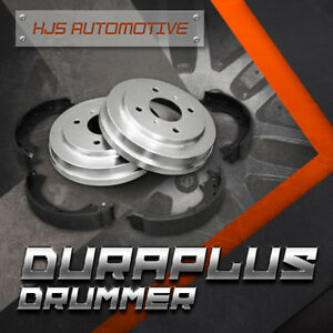 Duraplus Premium Coated Brake Drums Shoes [Rear] Fit 1999-2003 Infiniti QX4