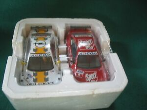 SCALEXTRIC PAIR OF SET CARS - MINT UNUSED OPEL V8 SPORT BUILD V OPEL SERVICE