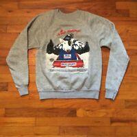 Spuds Mackenzie Bud Light Gray Crewneck VINTAGE 1987 Party Animal Sweatshirt S/M