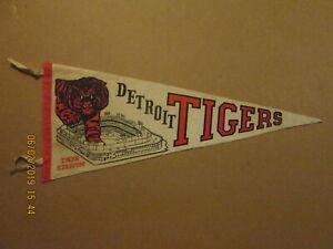 MLB Detroit Tigers Vintage Style #2 TIGER STADIUM 1960's Logo Baseball Pennant