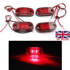 4pcs  12V 24V Red LED Truck Van Trailer Front Side Marker Lights Indicator Lamps