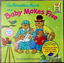 BERENSTAIN BEARS & BABY MAKES FIVE ~ Children's First Time Book 1st Ed & Print