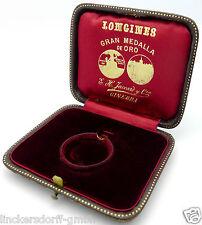 ORIGINAL LONGINES BOX für Taschenuhren bis 30 mm - um 1900