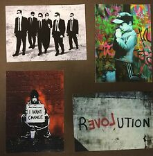 Banksy I Want Change Canvas ACEO Prints Street Art Cards Graffiti