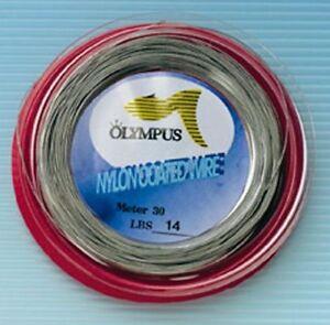 OLYMPUS - CAVETTO IN ACCIAIO PLASTICATO 130lbs - 100mt