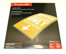 "GBC Letter Size (9"" x 11.5"") 3Mil Thick Thermal Laminating Pouches - 1 x 50 Pack"