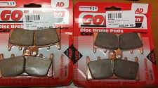 2 SETS OF GOLDFREN  BRAKE PADS  ZX6  ZX9  GSX1300  GSXR  TL1000  EBC FA188HH