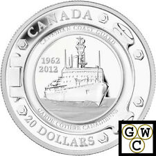 2012 'Canadian Coast Guard' Proof $20 Silver Coin .9999 Fine (NT)(13028)