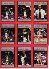 RARE 1989-1990 UNLV BASKETBALL CARD TEAM SET, JOHNSON, AUGMON, ANTHONY, TARK