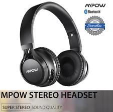 Mpow Bluetooth Wireless Headset Stereo Headphone Earphone Mic For iPhone Samsumg