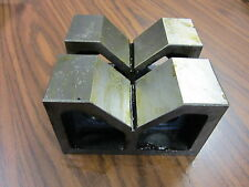 """6"""" Steel V-Block Matched Pairs--Accurately ground--new"""