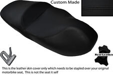 BLACK STITCH CUSTOM FITS PIAGGIO BEVERLY TOURING 125 500 DUAL LEATHER SEAT COVER