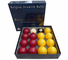 "ARAMITH SUPER PRO CUP 2"" REDS & YELLOWS POOL BALL SET"