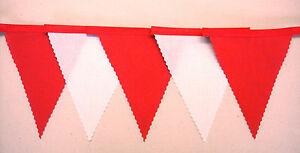 Red & White Fabric bunting Liverpool Arsenal 4 mt Plus Football Decoration