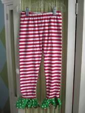 Nwot Mis Tee V-Us girls holiday striped polka dot ruffle hem pants Sz 4/5