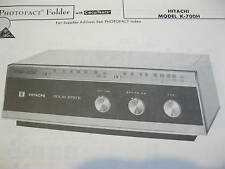 HITACHI K-700H RADIO RECEIVER PHOTOFACT