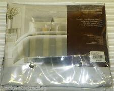 "Hudson Park Collection Queen Bedskirt Ottoman Stripe Jacquard 16"" Drop NWT"