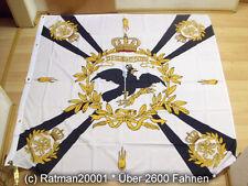 Fahnen Flagge Standarte Weiss mit Kreuz Preußen Premium - 150 x 150 cm