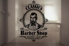 Vinyl Wall Decal Sticker Classic Salon Signboard Barber Shop Scissors Logo F1231