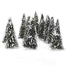 10 pieces White Dark Green Landscape model cedar trees 8cm LW