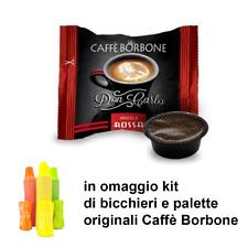 100 capsule caffè Borbone Don Carlo Compatibili Lavazza A Modo Mio Miscela Rossa
